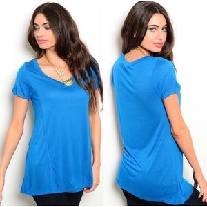 Tops - Boutique Basic Tee in Blue